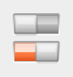 on and off white plastic slider buttons with vector image