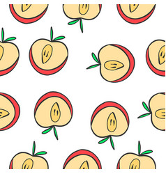 Pattern of apple fruit collection vector