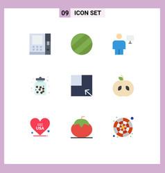 9 universal flat color signs symbols apple vector