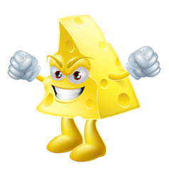 Angry cheese man vector