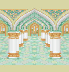 arabic palace vector image