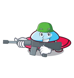 army ufo character cartoon style vector image
