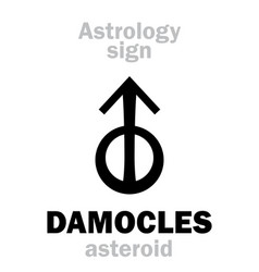 astrology asteroid damocles vector image
