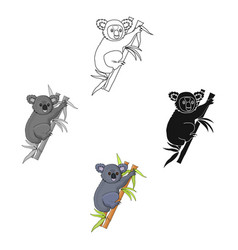 australian koala icon in cartoonblack style vector image