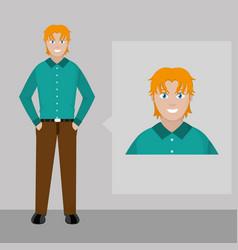 Avatar man design vector