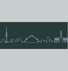 Baghdad single line skyline vector