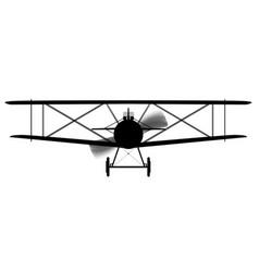 biplane silhouette vector image