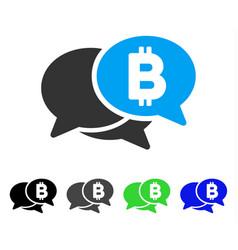 Bitcoin webinar flat icon vector