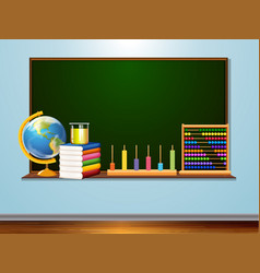 blackboard with learning element vector image