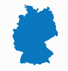 blank blue similar germany map isolated on white b vector image
