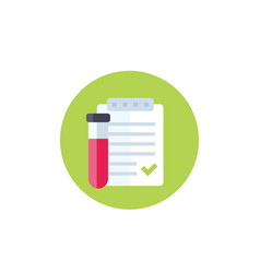 Blood test result icon vector