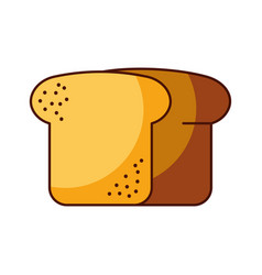 bread wheat fresh bakery pastry product food vector image