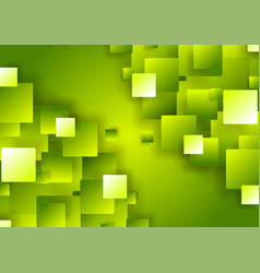 bright green abstract tech geometric squares vector image