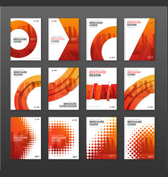 Brochure cover design layout set for construction vector