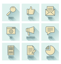 Business infographics icons Social media concept vector