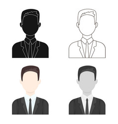 businessman icon cartoon single avatarpeaople vector image