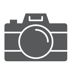 camera glyph icon travel and tourism photo sign vector image