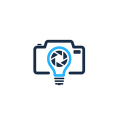 camera idea logo icon design vector image