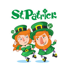 Cartoon celebrating saint patrick day concept vector