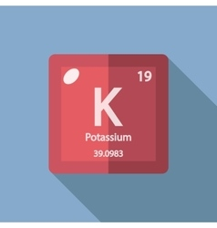 Chemical element Potassium Flat vector image