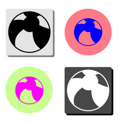 children ball flat icon vector image