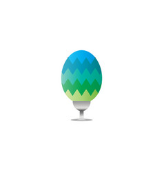 clean and elegant easter egg vector image
