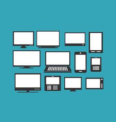 computer parts monitor vector image