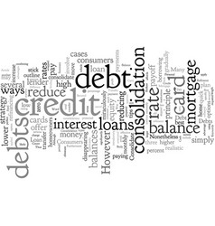Consolidate credit card debt best way to reduce vector