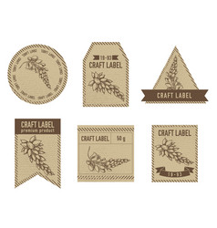 Craft labels with ginger stock vector