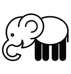 Cute animal elephant vector image