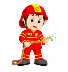 Cute fireman cartoon vector