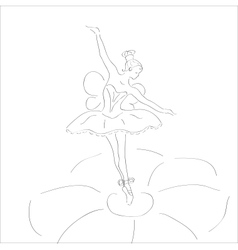 dancing ballerina with wings vector image