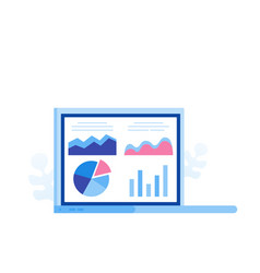 data analysis concept analysts working vector image