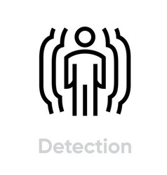 detection security icon editable line vector image