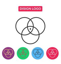 Disign logo color circle vector