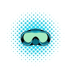 Diving mask icon comics style vector image