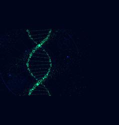 Dna molecule structure futuristic sci-fi vector