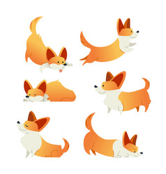 dog - modern set of flat vector image
