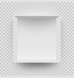 empty white box mock up model 3d top view model vector image