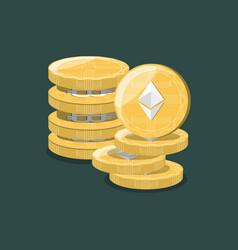 Ethereum coins design vector