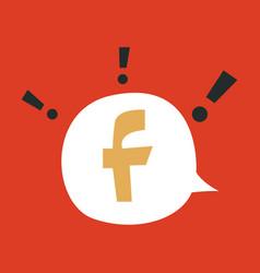 Facebook logotype social network icon vector