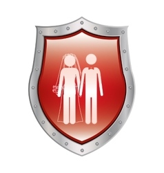 Family protection insurance vector