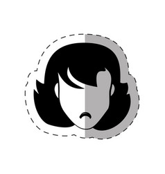 female faceless avatar image vector image