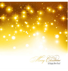 festive gold background with gold light dots vector image
