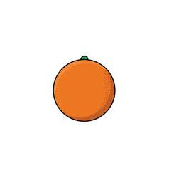 Flat sketch style fresh ripe orange vector