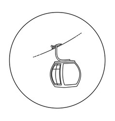 Funicular icon in outline style isolated on white vector