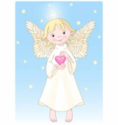 heart angel vector image