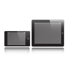 Horizontal Tablet and Mobile vector image vector image