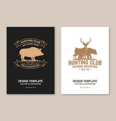 hunting club badge eat sleep hunt vector image