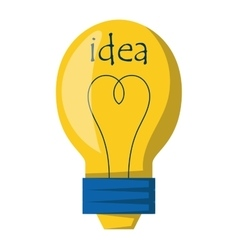Idea lamp icon vector image
